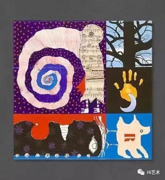 克里斯蒂安·西尔万 《Oiseau-spirale Ⅲ》80×100cm布面丙烯 1990年代  图片来源:克里斯蒂安·西尔万2号FACEBOOK(注:克里斯蒂安·西尔万有三个脸书账号,分别名为Christian Silvain、Christian Ⅱ、Silvain Ⅲ),©克里斯蒂安·西尔万