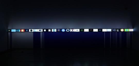 《衍》4'30'' 循环、彩色、无声 28屏影像装置 2017