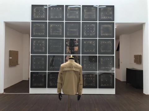 """站台中国项目空间dRoom""""王将×乌合之众®:隐蔽的幽灵""""展览现场"""