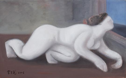 宫立龙 《白》33x53cm 布面油画 2006