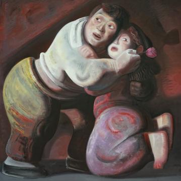 宫立龙《好》100x100cm 布面油画 2007