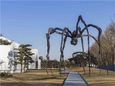 同为首次参展的松美术馆带来路易丝‧布尔乔亚 (巴黎,生于1911-2010)的作品回顾展「永恒的丝线」