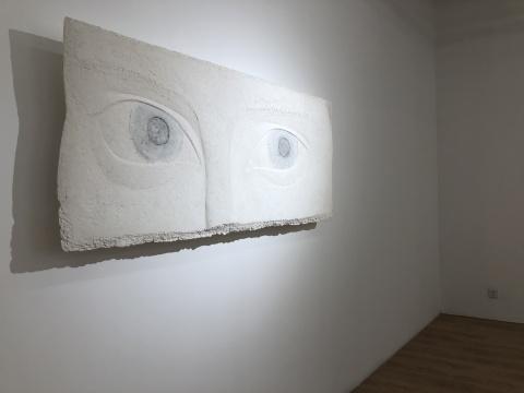 《SEEING》扁平浮雕 170cm ×73 cm ×6cm纸浆综合材料 2019 1/3版