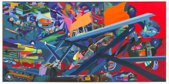 弗兰兹·艾稞曼《货物》540 × 260cm 布面油画 2009