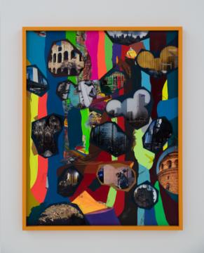 弗兰兹·艾稞曼《穿越森林 2(罗马_伊斯坦布尔_纽约_北京)》94.5×74cm 纸本综合材料 2019