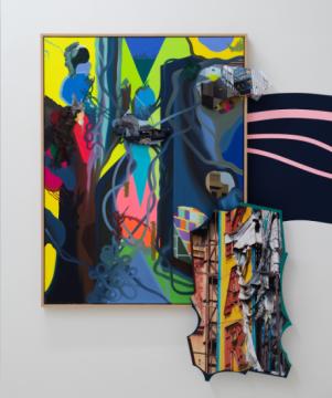 弗兰兹·艾稞曼《无名的风 2》 尺寸可变 布面油画,综合材料 2019
