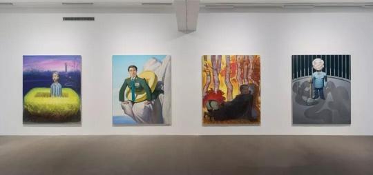 """王兴伟个展""""面相之谜"""",麦勒画廊798空间展览现场"""