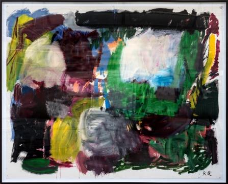 瑞纳斯·凡·德·维尔德《罗伯特·里诺 #3》纸板丙烯 202×250cm 2017 独版,图片由国王画廊提供