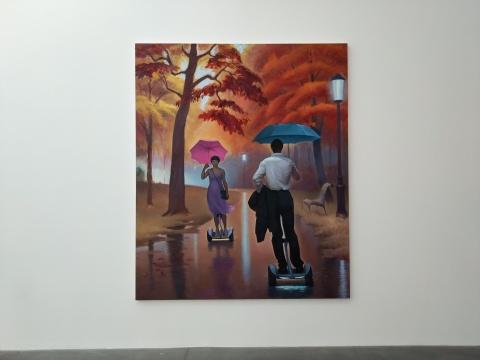 王兴伟《生命的邂逅》布面油画240x200cm2018年