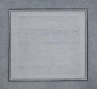 曾宏《两块白色》120×110cm 丙烯颜料 2012