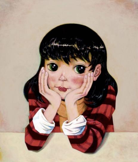 高瑀 《一年是四月的三倍》140×120cm布面丙烯 2017  2018收藏于玉兰堂