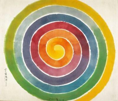 萧勤 《宇宙漩涡之十六》113×132cm压克力 画布19852018年收藏于佳士得香港