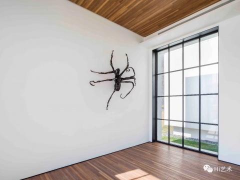 路易斯·布尔乔亚《蜘蛛IV》 青铜,墙面作品203.2 x 180.3 x 53.3 cm 1996 图片版权伊斯顿基金会VAGA(ARS) 松美术馆展览现场 摄影:JJYPHOTO