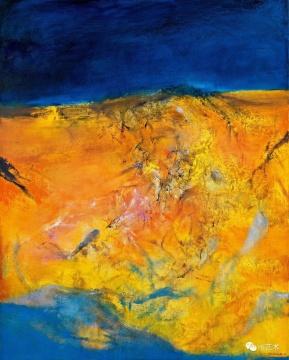 赵无极 《01.03.99》162 × 130 cm 油彩画布 1999 估价HKD 30,000,000 – 40,000,000