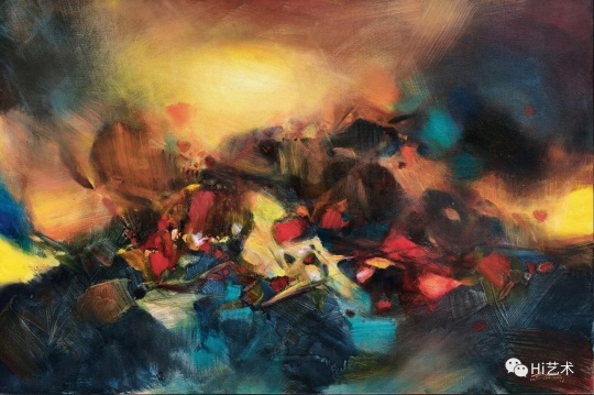 朱德群 《扩张》130 × 195 cm 油彩画布 2006 估价HKD 9,800,000 – 15,000,000