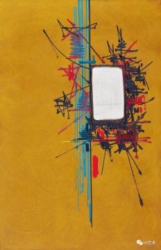 马修 《Argyropec》100 × 65 cm 油彩画布 1967 估价: HKD 500,000 – 900,000