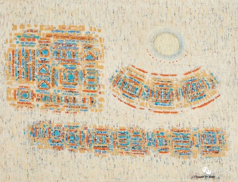 李圣子 《1963年10月15日的月亮》50.3 × 65 cm 油彩画布 1963 估价: HKD 550,000 – 650,000