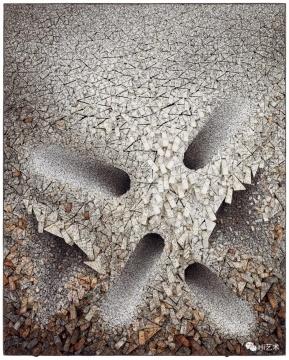 全光荣 《集合07-D114》163 × 131 cm 复合媒材 韩国桑树纸 2007 估价: HKD 400,000 – 500,000