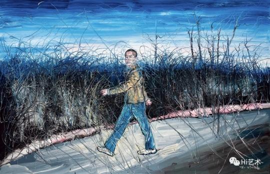 曾梵志(b.1964)《自画像(行进者)》215×330.5 cm 油彩画布 2006 估价: HK$ 10,000,000 – 15,000,000
