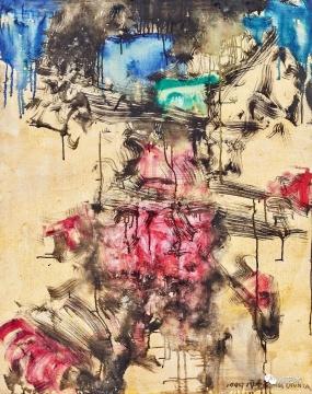 周春芽(b. 1955)《石头系列》 100×80 cm 油彩画布 1999 估价:HK$2,200,000 – 3,200,000