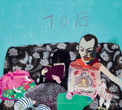 王玉平(b.1962)《70后》 200×220 cm 亚克力彩 油画棒 画布 2010 估价: HK$ 650,000 – 950,000