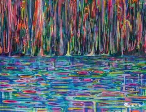 黄宇兴(b. 1975)《河流》190×250 cm 亚克力彩 画布 2015 估价: HK$ 650,000 – 1,000,000
