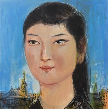 《大同女子王菊英》 120x120cm  布面丙烯 2015