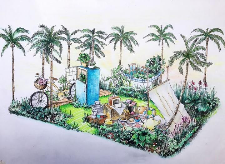设计|《野餐花园》手绘图