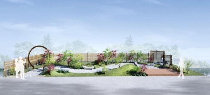 设计|马洋亭下槭树园新品种展示效果图