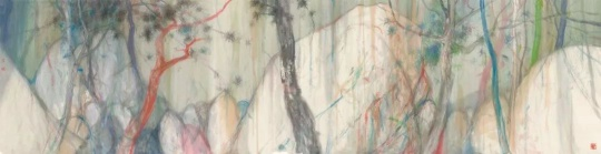 《荒石之西江月》 126x480cm 纸本设色 2018