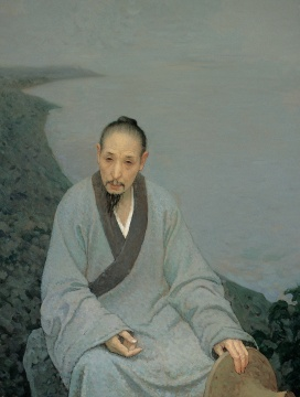 靳尚谊《八大山人》132×100cm 布面油彩2006 中国美术馆藏