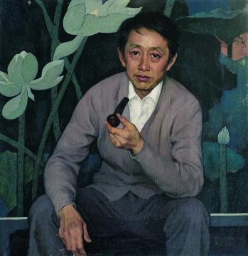 靳尚谊《画家黄永玉》80×80cm 布面油彩1981 中国美术馆藏