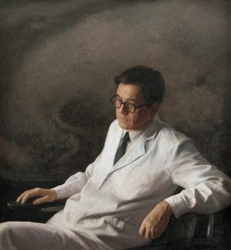 靳尚谊《医生》120×110cm 布面油彩1987 中国美术馆藏
