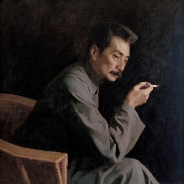 靳尚谊《鲁迅》86×88cm 布面油彩1981 中国美术馆藏