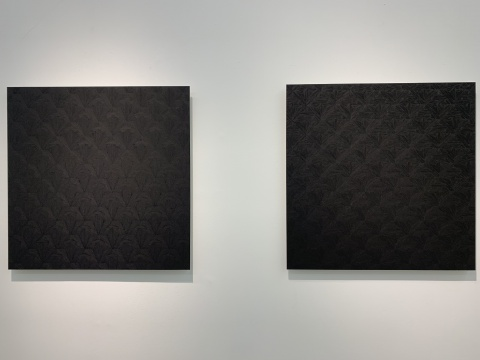 Alëna Olasyuk(俄罗斯)水墨纸本《patterns 3》&《patterns 9》