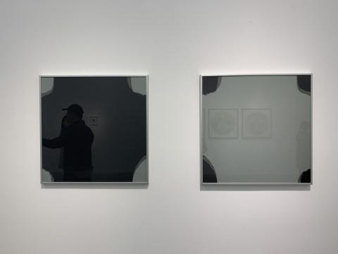 刘国强《奇数与偶数—综合材料—5#》 50×50cm×2 纸 2017