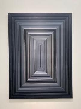 叶江 《框画黑》 200×150cm 布面油画 2018