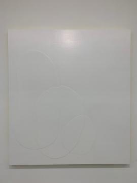 关音夫 《201824》 200×180×8.5cm 木板、丙烯、艺术涂料 2018