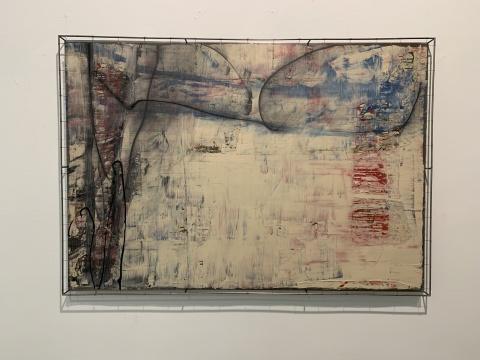 安立奎·布里克曼 《椭圆的卵》 105×151cm 油画、墨(钢网) 2013