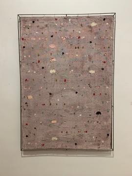 安立奎·布里克曼 《粉红底色上的色彩》 152×105cm 油画(钢网) 2010