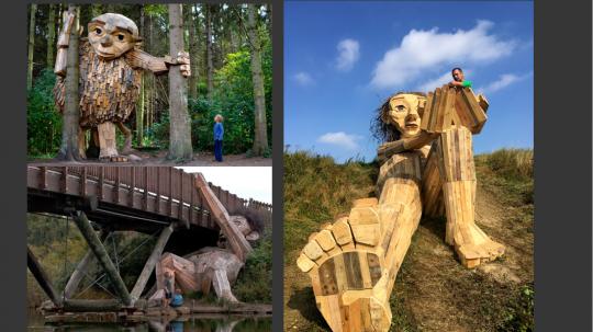 这位来自安徒生故乡的艺术家将收集武隆的废旧木材,制作两个巨人,藏在密林。
