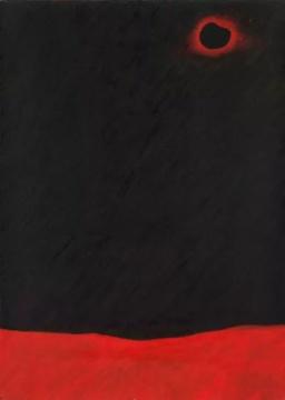 张宝全《黑太阳》 50×70cm布面油画