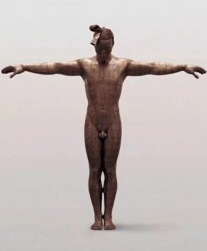 蔡志松 《故国·颂7# 》 191×48×185cm 铜板、铜线、树脂 2005-2006