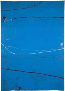 谭平 《无题》 110×78cm套色木版画