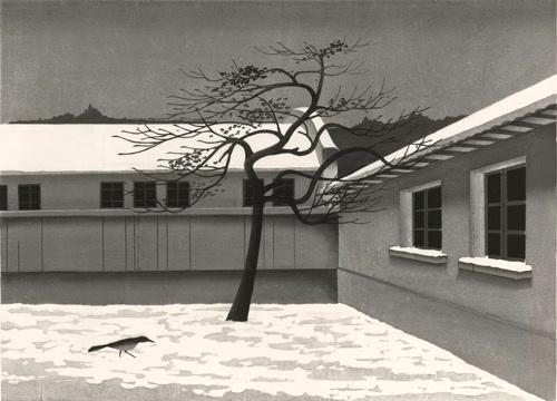陈琦《春分》 69x93cm 水印版画 1993