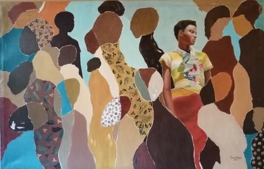 切博巴-卡伦巴 《女性朝圣者》 135×88cm 布面丙烯 2016