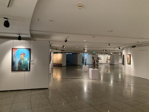 """""""中赞文化年——赞比亚当代艺术展""""展览现场"""