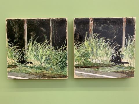 《夜晚的预期》 30×30cm 木板油画 2018  《夜晚的预期》 30×30cm 木板油画 2018