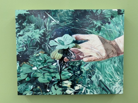 《蔓延》 40×50cm 木板油画 2018