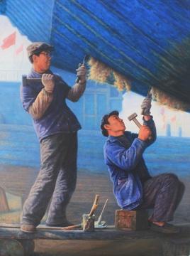 王丽志 《大国工匠》 油画